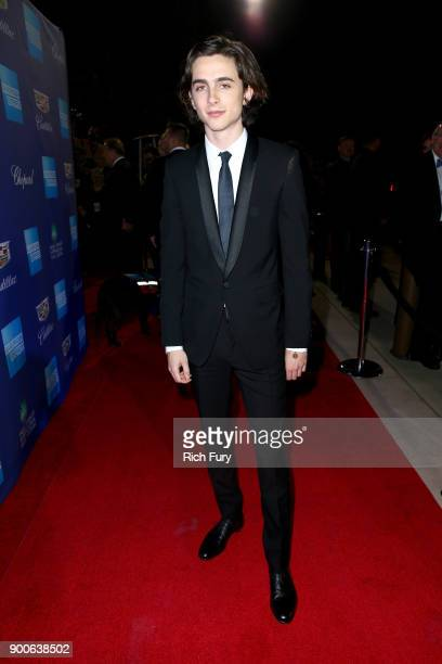 Timothée Chalamet attends the 29th Annual Palm Springs International Film Festival Awards Gala at Palm Springs Convention Center on January 2 2018 in...