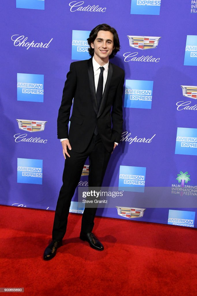 Timothée Chalamet attends the 29th Annual Palm Springs International Film Festival Awards Gala at Palm Springs Convention Center on January 2, 2018 in Palm Springs, California.
