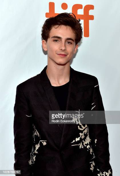Timothée Chalamet attends the Beautiful Boy premiere during 2018 Toronto International Film Festival at Roy Thomson Hall on September 7 2018 in...