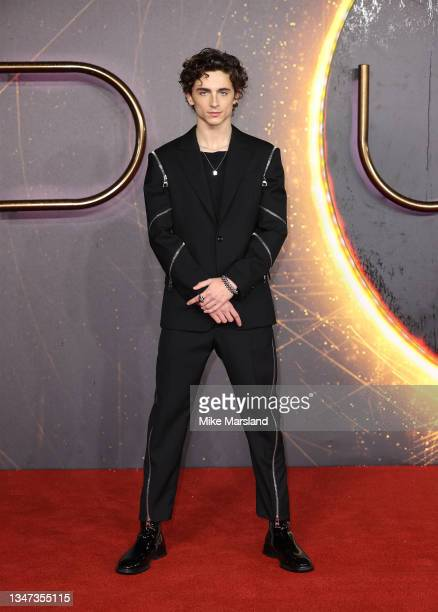 """Timothée Chalamet attends the """"Dune"""" UK Special Screening at Odeon Luxe Leicester Square on October 18, 2021 in London, England."""
