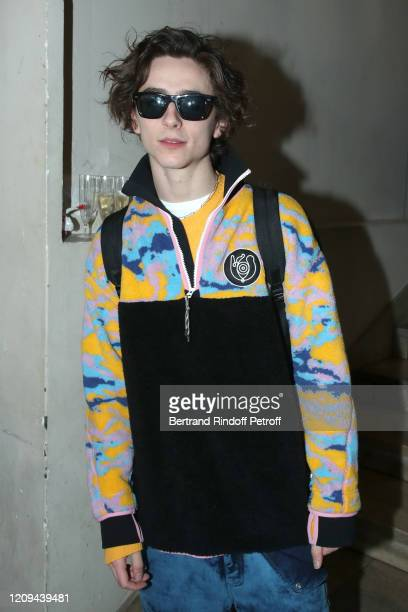 Timothée Chalamet attends the Haider Ackermann show as part of the Paris Fashion Week Womenswear Fall/Winter 2020/2021 on February 29 2020 in Paris...