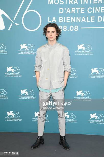 """Timothée Chalamet attends """"The King"""" photocall during the 76th Venice Film Festival at Sala Grande on September 02, 2019 in Venice, Italy."""