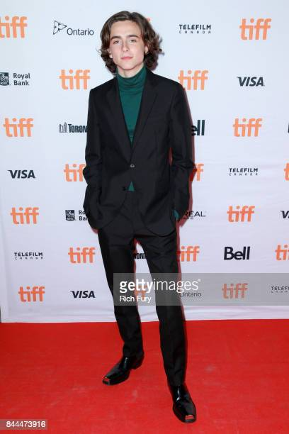 Timothée Chalamet attends the 'Lady Bird' premiere during the 2017 Toronto International Film Festival at Ryerson Theatre on September 8 2017 in...