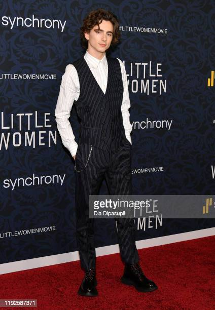 Timothée Chalamet attends the Little Women World Premiere at Museum of Modern Art on December 07 2019 in New York City