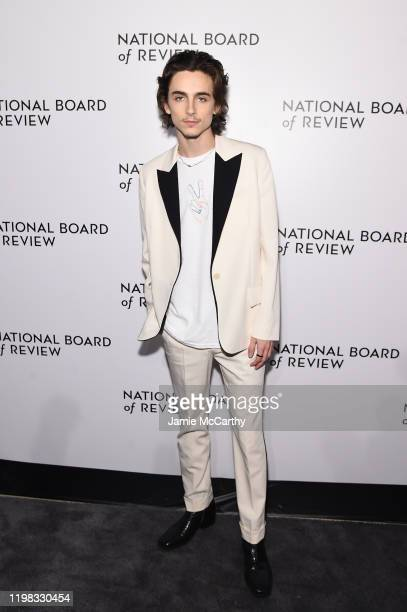 Timothée Chalamet attends The National Board of Review Annual Awards Gala at Cipriani 42nd Street on January 08 2020 in New York City