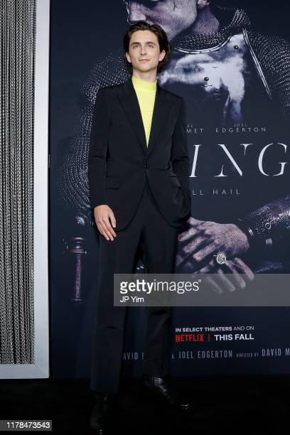 Timothée Chalamet attends the NY Special Screening of Netflix's The King at School of Visual Arts on October 01 2019 in New York City