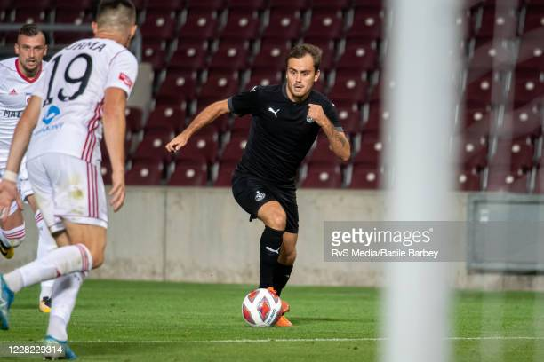 Timothe Cognat of Servette FC in action during the UEFA Europa League qualification match between Servette FC and MFK Ruzomberok at Stade de Geneve...