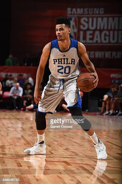 Timothe Luwawu Cabarrot of Philadelphia 76ers handles the ball against the Chicago Bulls during 2016 Summer League on July 10 2016 at the Thomas Mack...