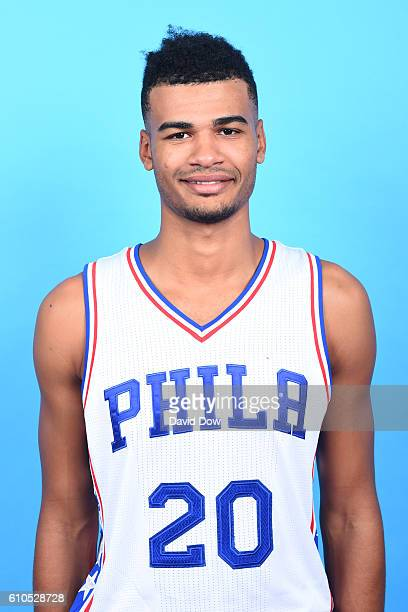 Timothe Luwawu of the Philadelphia 76ers poses for a head shot during media day at the Philadelphia 76ers Training Complex on September 262016 in...