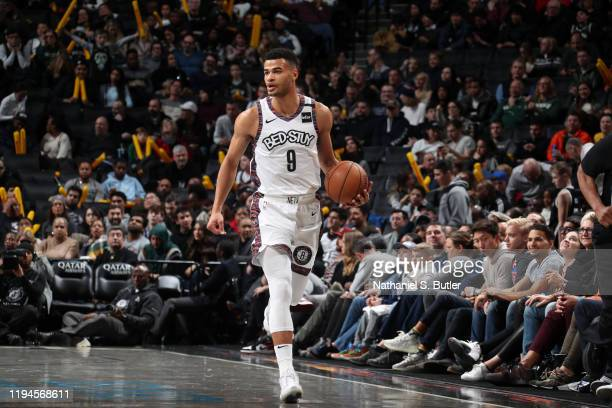 Timothe LuwawuCabarrot of the Brooklyn Nets handles the ball against the Milwaukee Bucks on January 18 2020 at Barclays Center in Brooklyn New York...