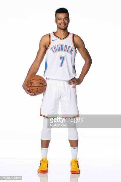 Timothe LuwawuCabarrot of the Oklahoma City Thunder poses for a portrait during media day at Chesapeake Energy Arena in Oklahoma City Oklahoma on...