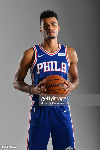 Timothe LuwawuCabarrot of the Philadelphia 76ers poses for a portrait during 201718 NBA Media Day on September 25 2017 at Wells Fargo Center in...