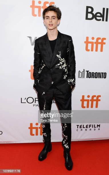 Timothee Chalame attends the 'Beautiful Boy' premiere during 2018 Toronto International Film Festival at Roy Thomson Hall on September 7, 2018 in...
