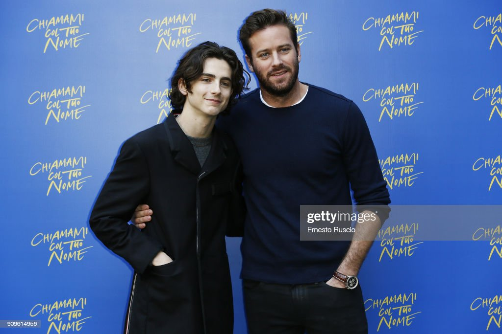 Chiamami Col Tuo Nome (Call Me By Your Name) Photocall In Rome : News Photo