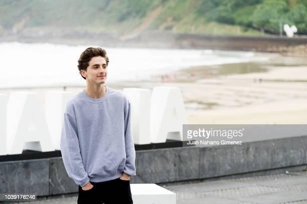 Timothee Chalamet and Felix Van Groeningen attend the 'Beautiful Boy' photocall during the 66th San Sebastian International Film Festival on...