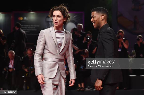 Timothee Chalamet and Kid Cudi attend The King red carpet during the 76th Venice Film Festival at Sala Grande on September 02 2019 in Venice Italy