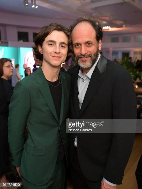 Timothee Chalamet and Luca Guadagnino attend The Hollywood Reporter 6th Annual Nominees Night at CUT on February 5 2018 in Beverly Hills California
