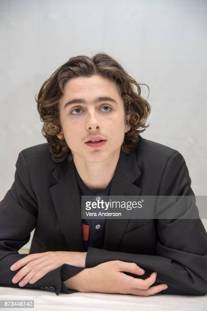 Timothee Chalamet at the 'Lady Bird' Press Conference at the Four Seasons Hotel on November 9 2017 in Beverly Hills California