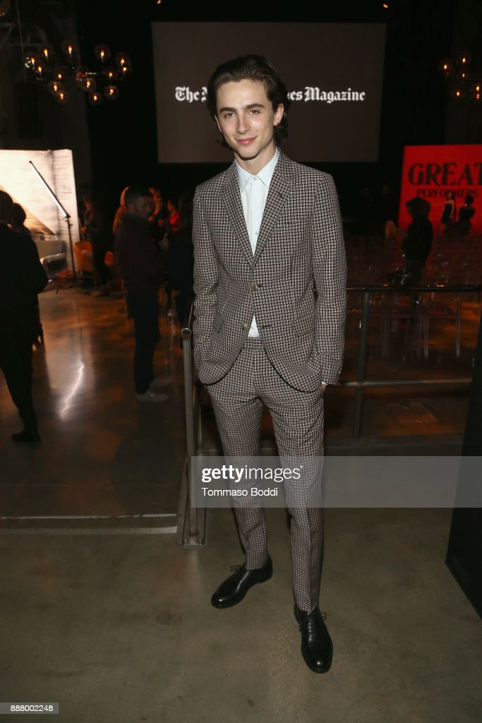 Timothee Chalamet at The New York Times Magazine Celebrates 'The Great Performers Issue' 2017 on December 7, 2017 in Los Angeles, California.