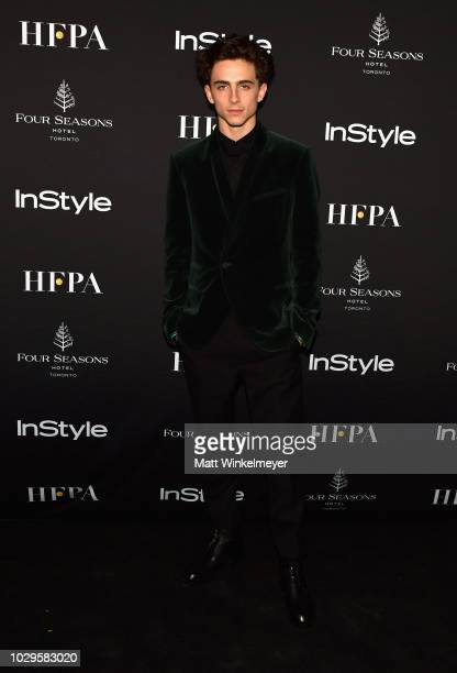 Timothee Chalamet attends 2018 HFPA and InStyle's TIFF Celebration at the Four Seasons Hotel on September 8 2018 in Toronto Canada