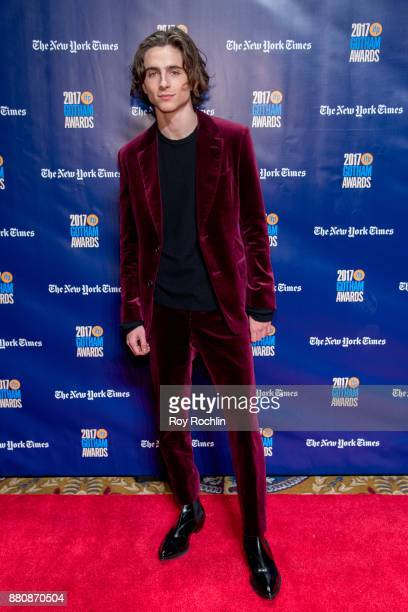 Timothee Chalamet attends the 2017 IFP Gotham Awards at Cipriani Wall Street on November 27 2017 in New York City