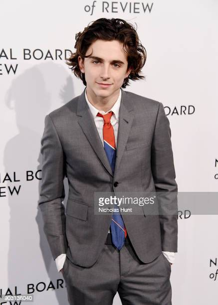 Timothee Chalamet attends the 2018 National Board Of Review Awards Gala at Cipriani 42nd Street on January 9 2018 in New York City