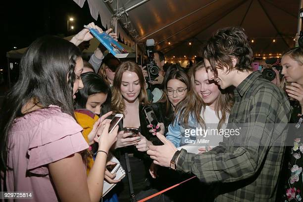 Timothee Chalamet attends the 2018 Texas Film Awards at AFS Cinema on March 8 2018 in Austin Texas