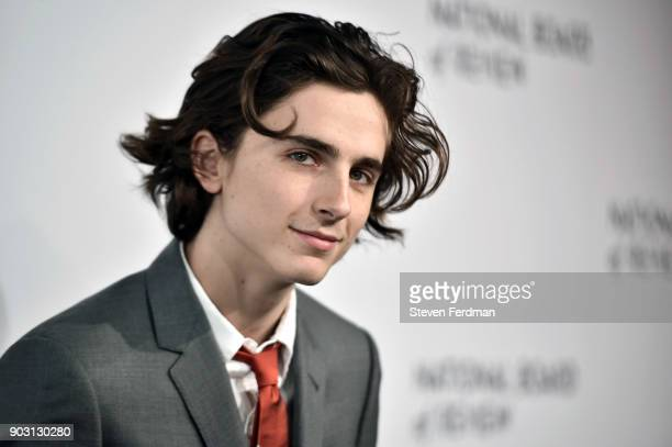 Timothee Chalamet attends the 2018 The National Board Of Review Annual Awards Gala at Cipriani 42nd Street on January 9 2018 in New York City