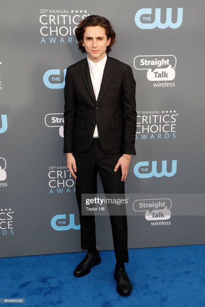 Timothee Chalamet attends the 23rd Annual Critics' Choice Awards at Barker Hangar on January 11, 2018 in Santa Monica, California.