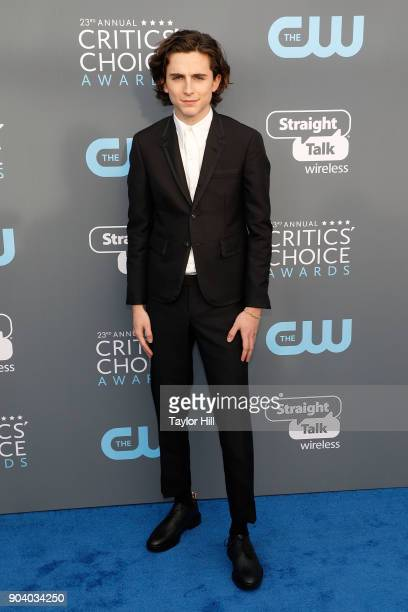 Timothee Chalamet attends the 23rd Annual Critics' Choice Awards at Barker Hangar on January 11 2018 in Santa Monica California