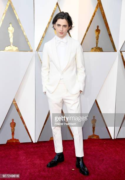 Timothee Chalamet attends the 90th Annual Academy Awards at Hollywood Highland Center on March 4 2018 in Hollywood California