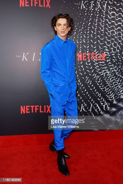 Timothee Chalamet attends the Australian premiere of THE KING at Ritz Cinema on October 10 2019 in Sydney Australia