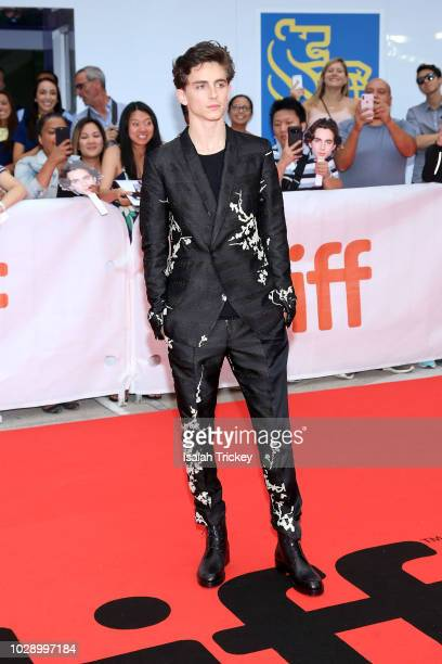 Timothee Chalamet attends the 'Beautiful Boy' premiere during 2018 Toronto International Film Festival at Roy Thomson Hall on September 7 2018 in...