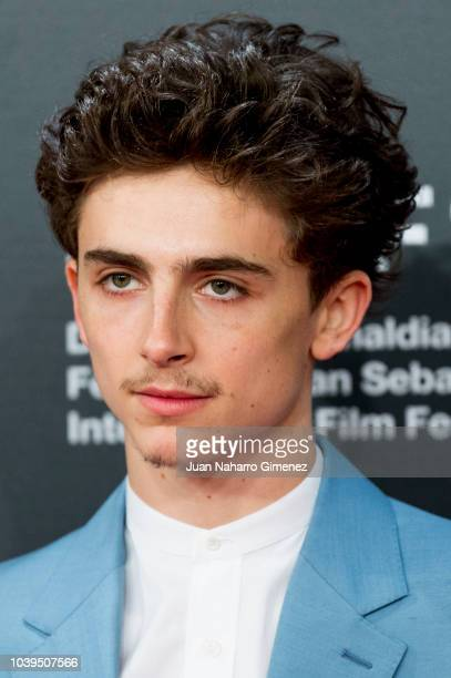 Timothee Chalamet attends the 'Beautiful Boy' premiere during the 66th San Sebastian International Film Festival on September 24 2018 in San...