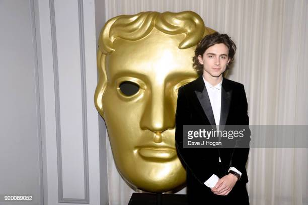 Timothee Chalamet attends the EE British Academy Film Awards gala dinner held at Grosvenor House on February 18 2018 in London England