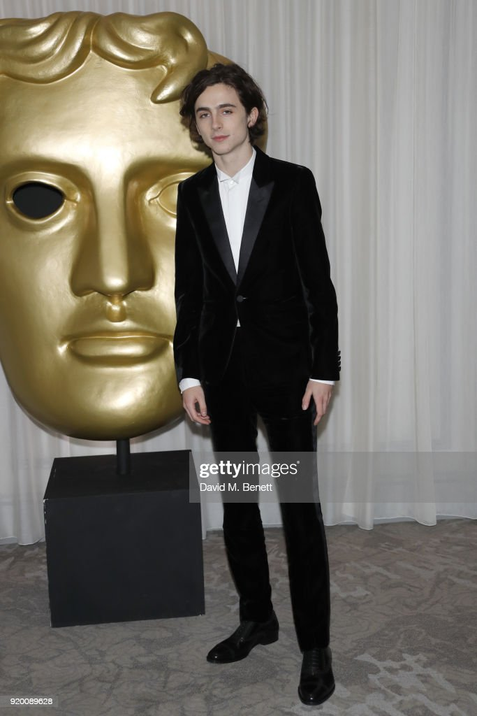 Timothee Chalamet attends the EE British Academy Film Awards (BAFTA) gala dinner held at Grosvenor House, on February 18, 2018 in London, England.