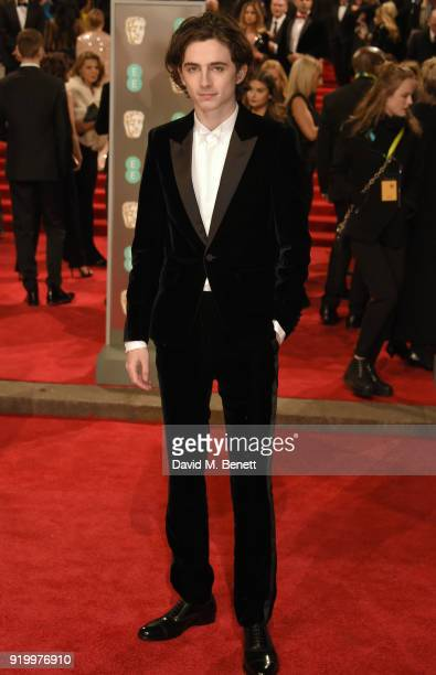 Timothee Chalamet attends the EE British Academy Film Awards held at Royal Albert Hall on February 18 2018 in London England