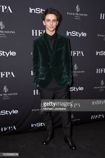 Timothee Chalamet attends The Hollywood Foreign Press Association and InStyle Party during 2018 Toronto International Film Festival at Four Seasons...