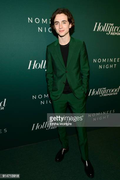 Timothee Chalamet attends The Hollywood Reporter 6th Annual Nominees Night at CUT on February 5 2018 in Beverly Hills California