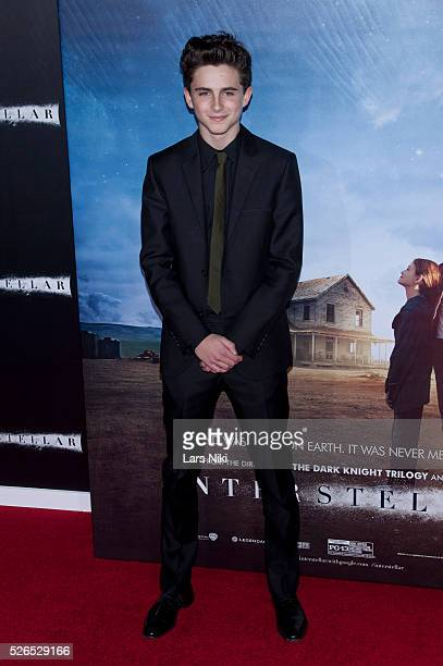 Timothee Chalamet attends the Interstellar premiere at the AMC Lincoln Square Theater in New York City �� LAN