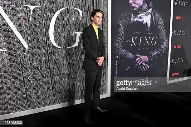 """Timothee Chalamet attends """"The King"""" New York Premiere at SVA Theater on October 01, 2019 in New York City."""