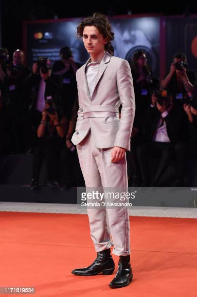 Timothee Chalamet attends The King red carpet during the 76th Venice Film Festival at Sala Grande on September 02 2019 in Venice Italy