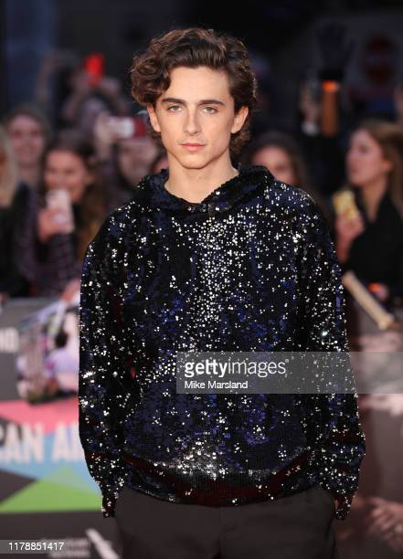 Timothee Chalamet attends The King UK Premiere during the 63rd BFI London Film Festival at Odeon Luxe Leicester Square on October 03 2019 in London...