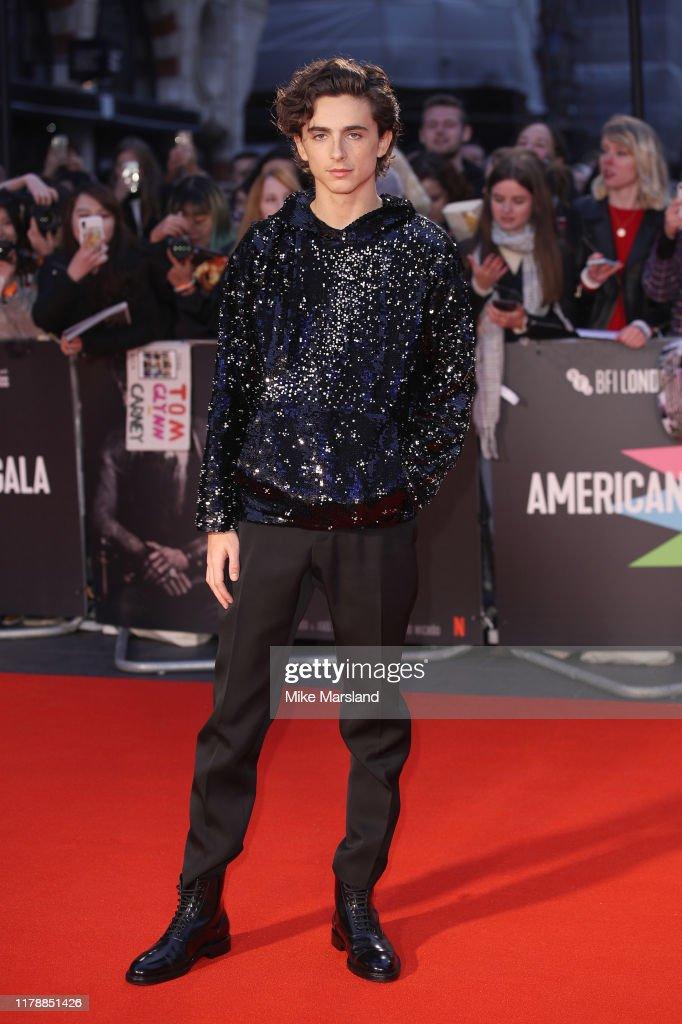 """The King"" UK Premiere - 63rd BFI London Film Festival : Foto di attualità"