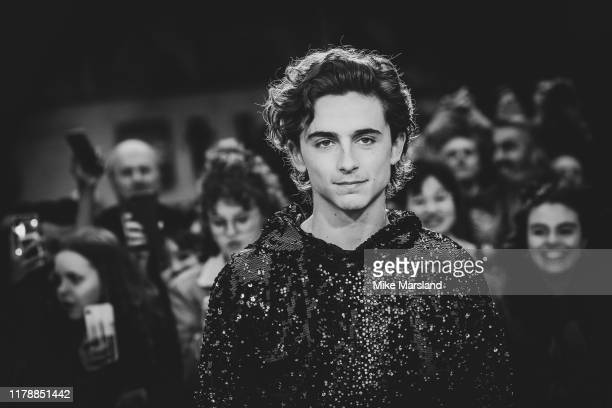 "Timothee Chalamet attends ""The King"" UK Premiere during the 63rd BFI London Film Festival at Odeon Luxe Leicester Square on October 03, 2019 in..."