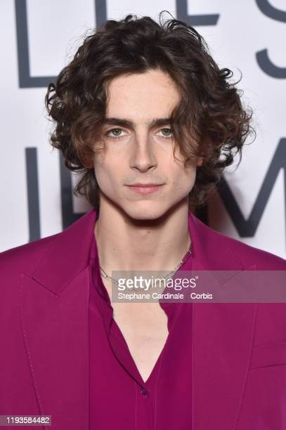 Timothee Chalamet attends the Little Women Premiere at Cinema Gaumont Marignan on December 12 2019 in Paris France