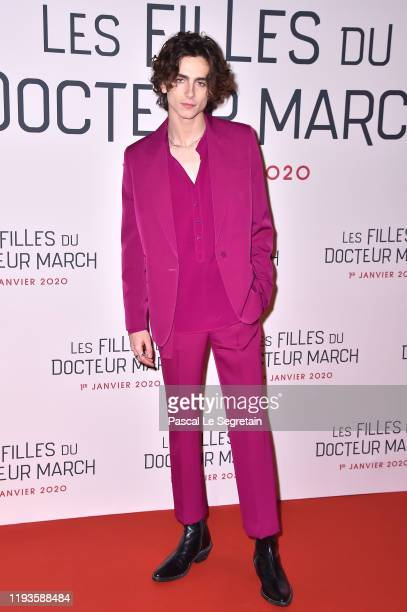 Timothee Chalamet attends the Little Women Premiere on December 12 2019 in Paris France