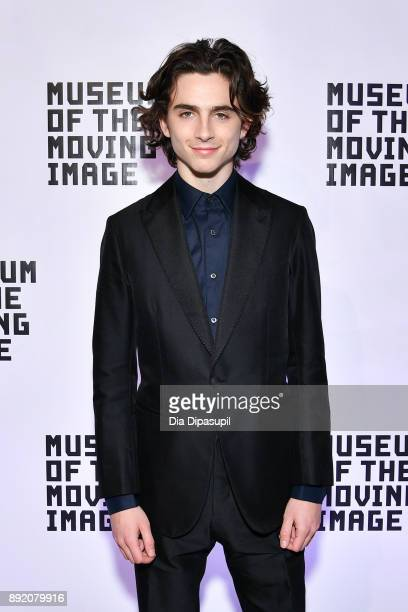 Timothee Chalamet attends the Museum of the Moving Image Salute to Annette Bening at 583 Park Avenue on December 13, 2017 in New York City.
