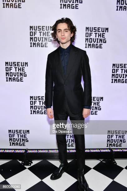Timothee Chalamet attends the Museum of the Moving Image Salute to Annette Bening at 583 Park Avenue on December 13 2017 in New York City