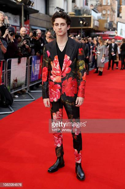 Timothee Chalamet attends the UK Premiere of Beautiful Boy Headline gala during the 62nd BFI London Film Festival on October 13 2018 in London England